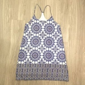 Everly Dress Blue & White Size Small